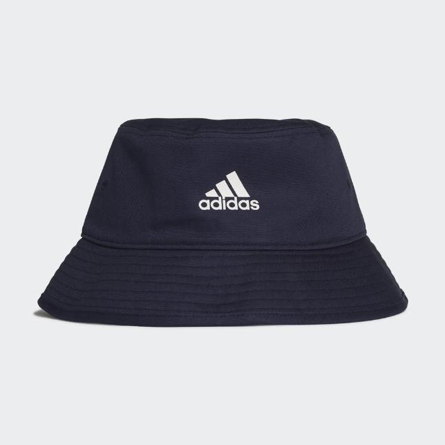 【adidas 愛迪達】Adidas Cotton Bucket 男女 漁夫帽 運動 休閒 田徑 慢跑 遮陽帽 藍(H36812)