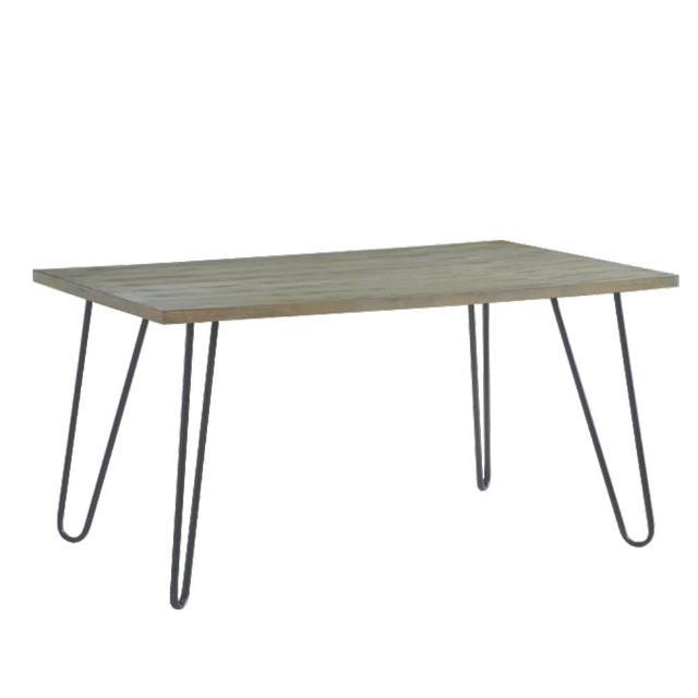 【FL 滿屋生活】FL 現代木質鐵件餐桌(實木餐桌/工業風餐桌/美式餐桌/現代風格)