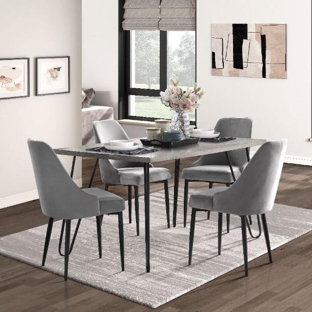 【FL 滿屋生活】一桌四椅-FL 現代時尚餐桌椅組(限量組合/新品上市/實木餐桌椅/美式現代風格)