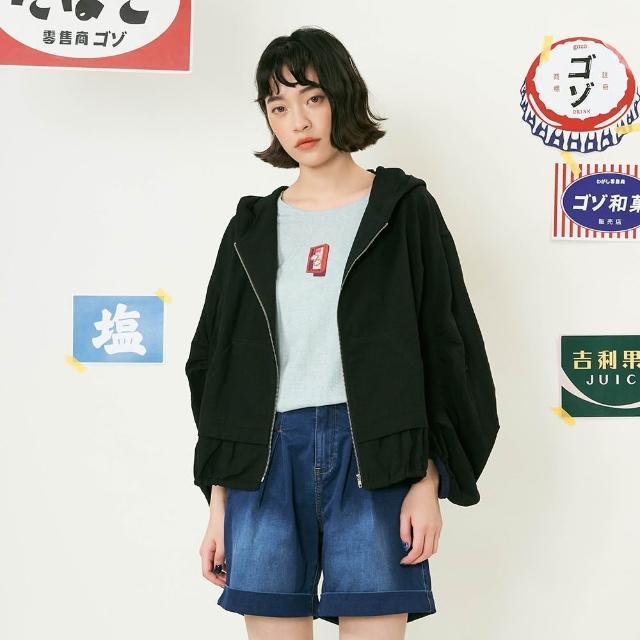 【gozo】抽皺造型連帽外套(三色)