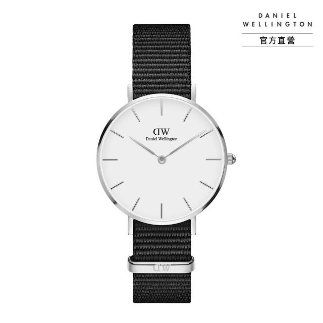 【Daniel Wellington】官方直營 Petite Cornwall 32mm寂靜黑織紋錶(DW手錶 DW00100254)