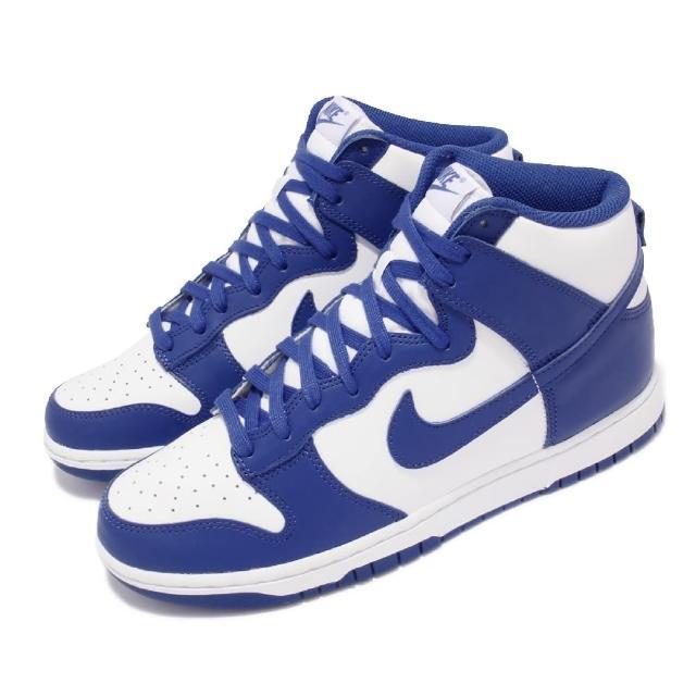 【NIKE 耐吉】休閒鞋 Dunk HI Retro 運動 男女鞋 Game Royal 經典款 情侶穿搭 白 藍(DD1399-102)