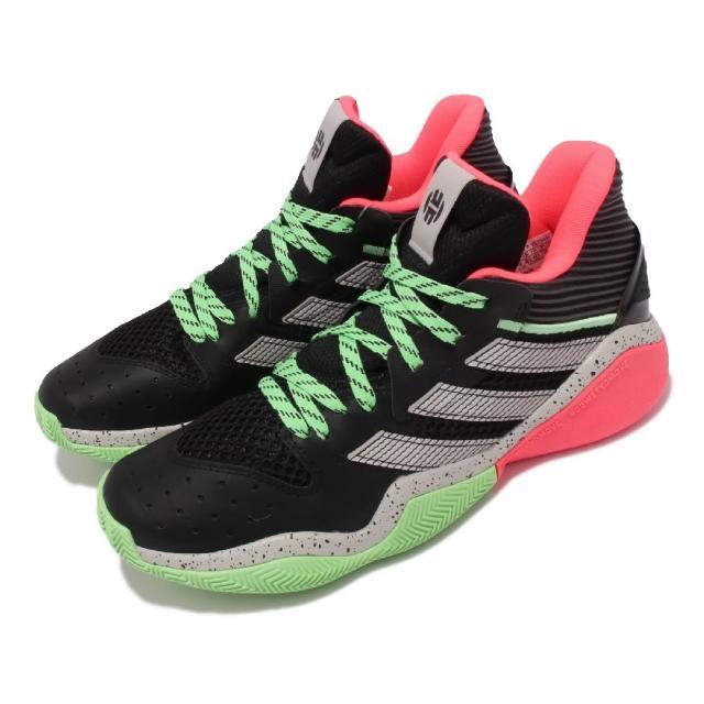 【adidas 愛迪達】籃球鞋 Harden Stepback 運動 男鞋 愛迪達 哈登 大鬍子 緩震 包覆 球鞋 黑 綠(FW8486)