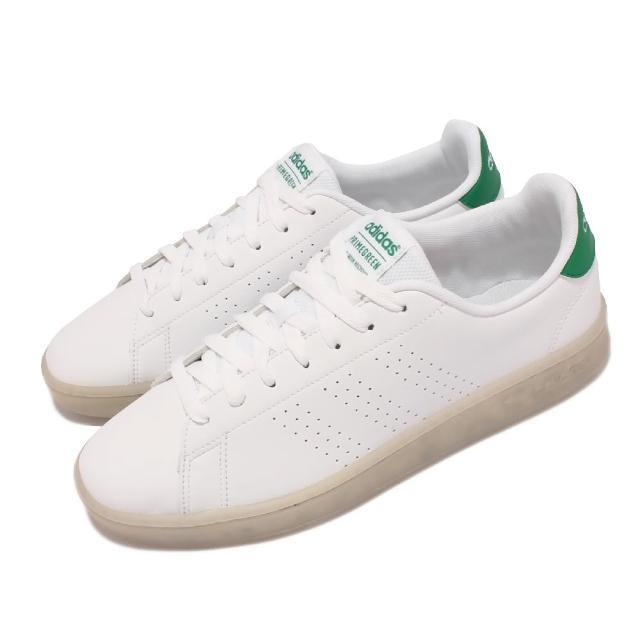 【adidas 愛迪達】休閒鞋 Advantage 低筒 運動 男鞋 愛迪達 基本款 環保理念 球鞋 穿搭 白 綠(FY9679)