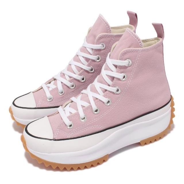 【CONVERSE】休閒鞋 Run Star Hike 厚底 男女鞋 經典款 帆布 增高 情侶穿搭 球鞋 粉 白(171668C)