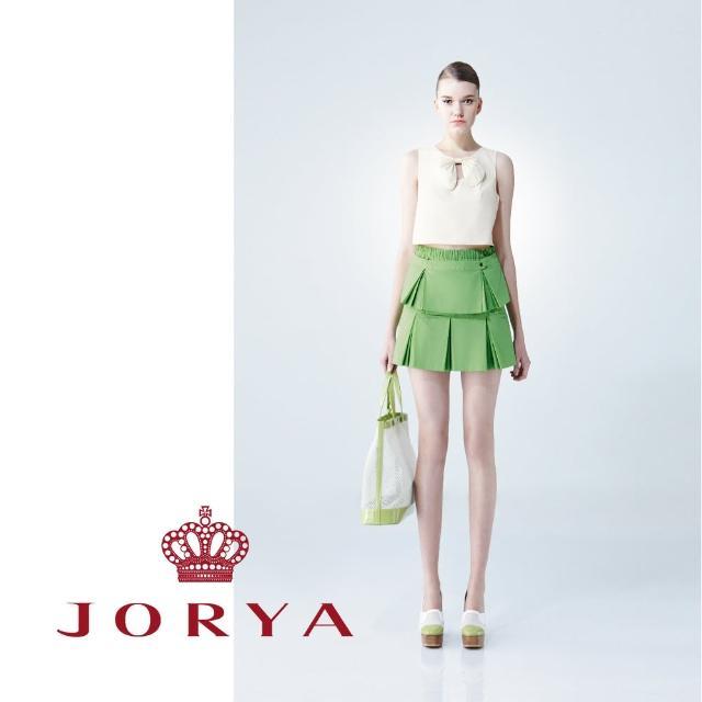 【JORYA】weekendG2203304挺版雙層造型春日色調短裙