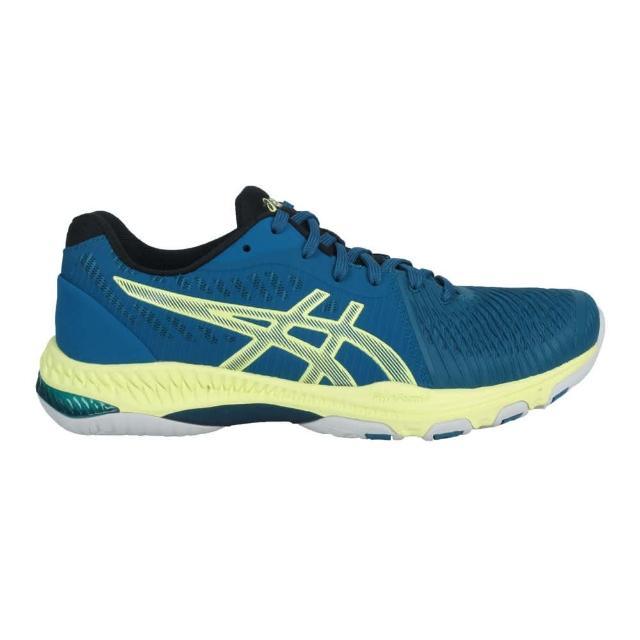 【asics 亞瑟士】NETBURNER BALLISTIC FF 2 男排羽球鞋 藍綠螢光黃(1051A041-404)