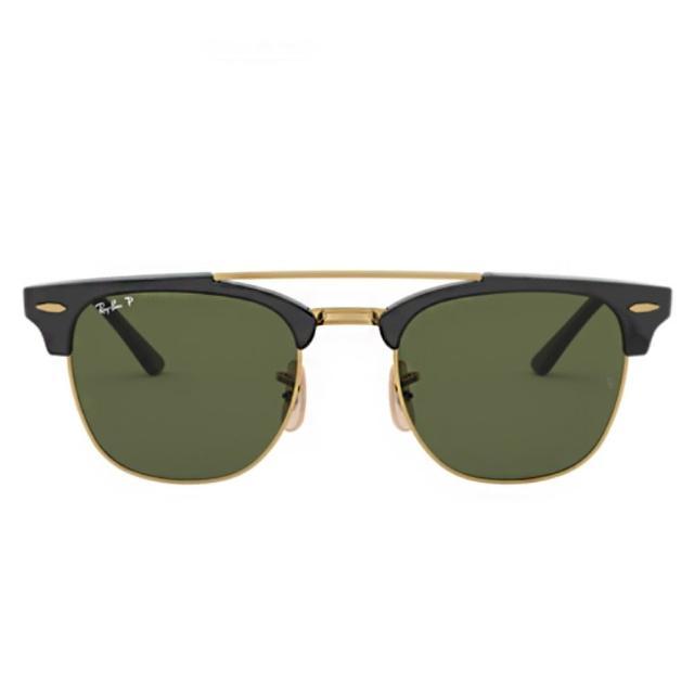 【RayBan 雷朋】時尚風系列雙槓款綠色鏡片(3816-90158)