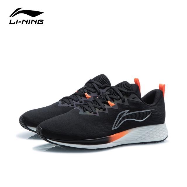 【LI-NING 李寧】赤兔4代男子反光回彈競速跑鞋 黑色/金屬銀(ARMR003-5)