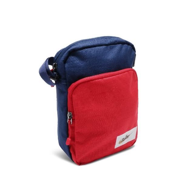 【NIKE 耐吉】斜背包 Casual Shoulder Bag 側背 小包 外出 輕便 基本款 隨身包 藍 紅(BA5809-492)