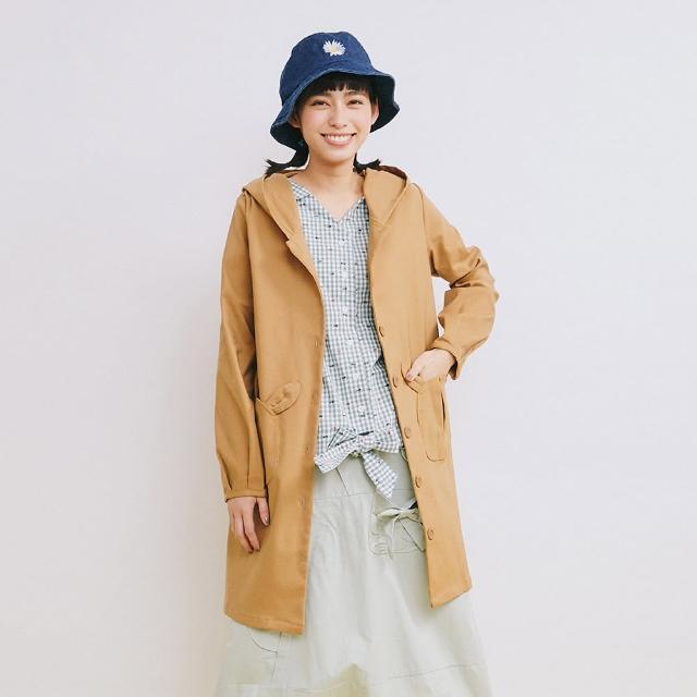 【Dailo】小兔仔口袋連帽-女長袖外套 綠 卡(二色/魅力商品/版型寬鬆)