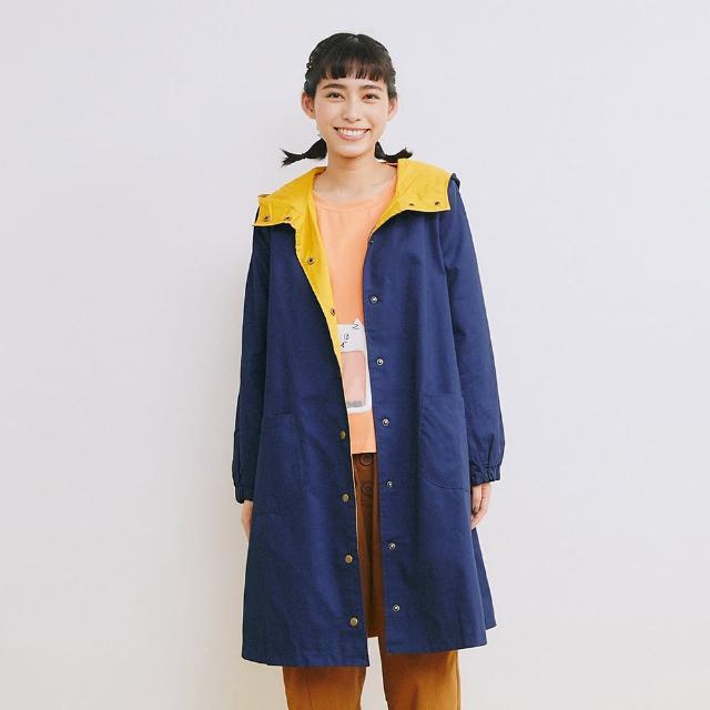 【Dailo】文青早餐插圖連帽-女長袖外套 插畫 藍 綠 卡(三色/魅力商品/版型寬鬆)