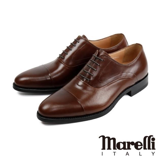 【Marelli】都會時尚橫飾牛津鞋 棕色(S92818-BR)