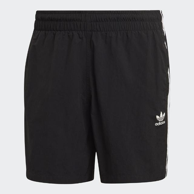 【adidas 愛迪達】短褲 男款 運動短褲 慢跑 ADICOLOR 黑 GN3523