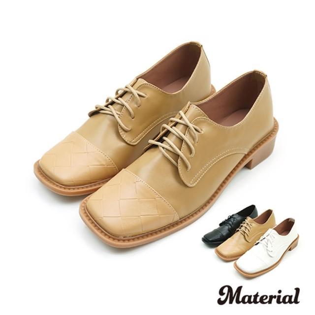 【MATERIAL】牛津鞋 方頭拼接牛津鞋 MA女鞋 T3890(平底鞋)