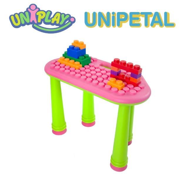 【UNiPLAY】UNiPLAY抗菌軟積木 花瓣積木桌 單桌-粉紅