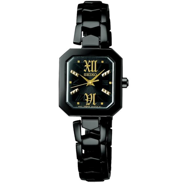 【SEIKO 精工】vivace 太陽能小巧時尚方形腕錶-26mm(V117-0AE0SD/SUP883J1)