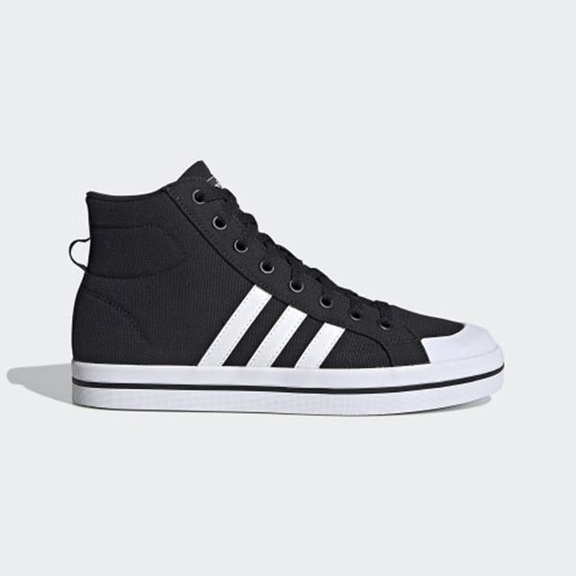 【adidas 愛迪達】休閒鞋 男鞋 運動鞋 BRAVADA MID 黑 FY4488