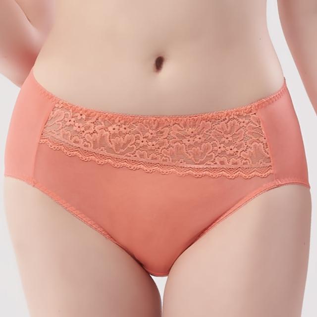 【Swear 思薇爾】花詠系列M-XXL蕾絲中腰三角女內褲(炙熱橘)