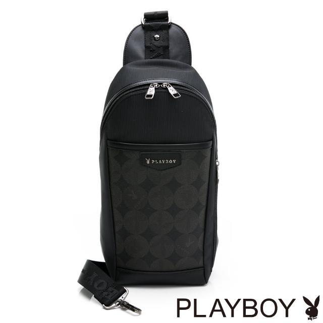 【PLAYBOY】單肩背包 League系列(黑色)