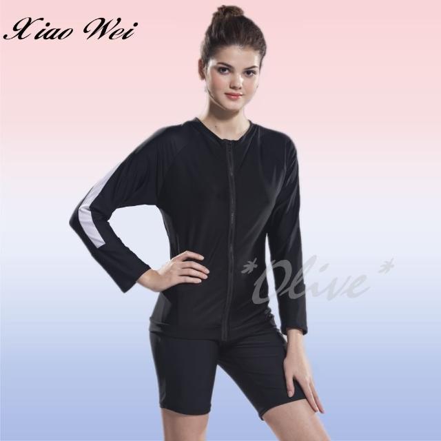 【小薇的店】泳之美品牌單件長袖外套/游泳外套(NO.1528)