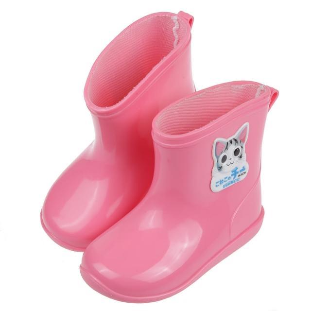 【布布童鞋】奇奇冒險日記粉色附鞋墊兒童雨鞋(A1G001G)