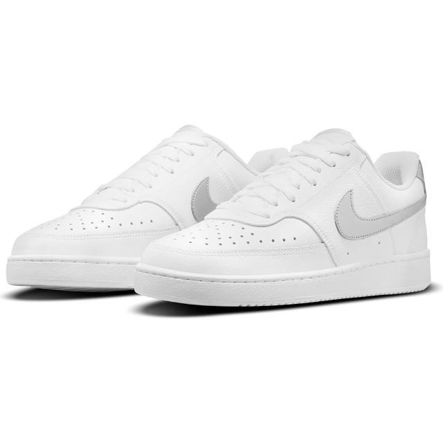 【NIKE 耐吉】休閒鞋 女鞋 運動鞋 皮革 WMNS COURT VISION LOW 白灰 CD5434-111