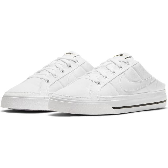 【NIKE 耐吉】拖鞋 女鞋 穆勒鞋 運動鞋 WMNS COURT LEGACY MULE 白 DB3970-100