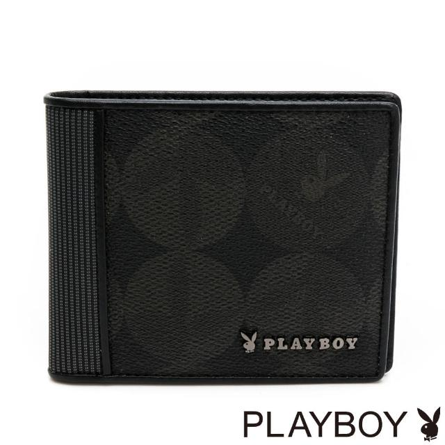 【PLAYBOY】短夾附零錢袋 League系列(黑色)