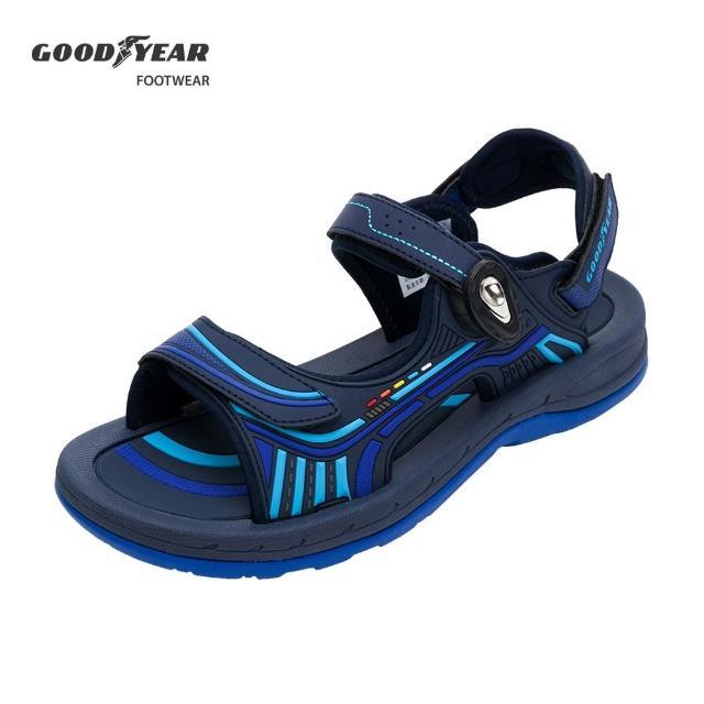 【GOODYEAR 固特異】機能磁扣運動涼鞋/男 排水 透氣 藍(凱旋II-GAMS03626)