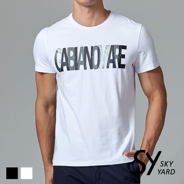 【SKY YARD】個性GABBIANO印花短袖圓領T恤(白色)