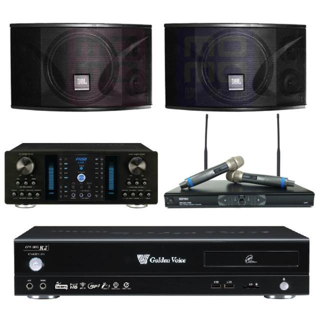 【金嗓】點歌機4TB+擴大機+無線麥克風+喇叭(CPX-900 R2+A-350+MR-865 PRO+JBL Ki110)