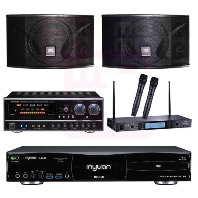 【音圓】點歌機4TB+擴大機+無線麥克風+喇叭(S-2001 N2-550+BB-1 BT+MR-865 PRO+JBL Ki110)