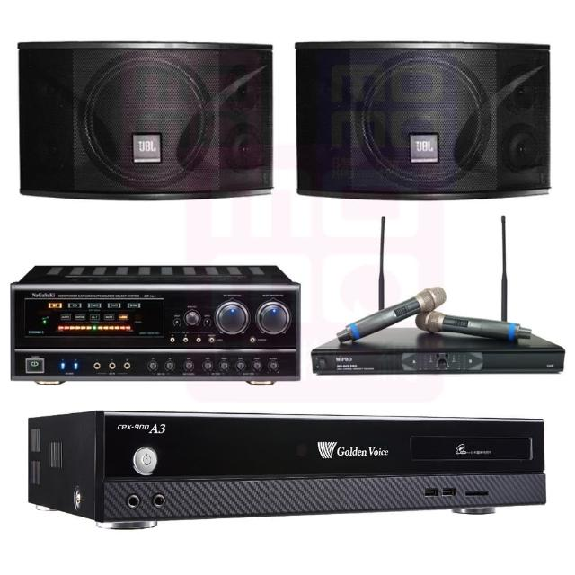 【金嗓】點歌機4TB+擴大機+無線麥克風+喇叭(CPX-900 A3+BB-1 BT+MR-865 PRO+JBL Ki110)
