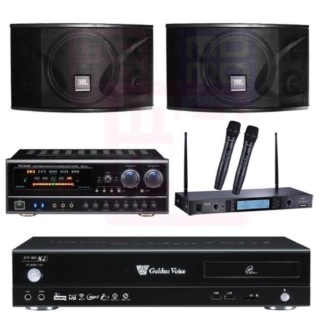 【金嗓】點歌機4TB+擴大機+無線麥克風+喇叭(CPX-900 R2+BB-1 BT+MR-865 PRO+JBL Ki110)
