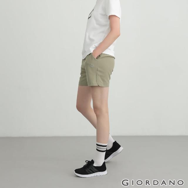 【GIORDANO 佐丹奴】女裝3M輕薄運動短褲(42 暗油綠)