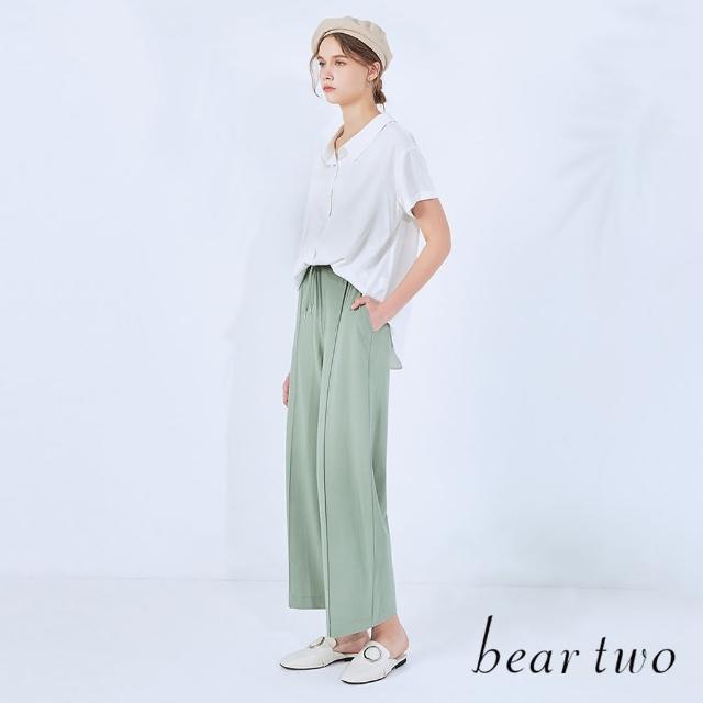 【bear two】後背蕾絲設計開襟襯衫(兩色)