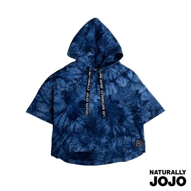 【NATURALLY JOJO】自然紮染棉短袖帽T(丈青)