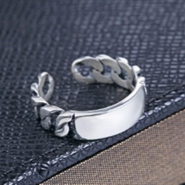 【米蘭精品】925純銀戒指鑲鑽銀飾(簡約時尚復古造型情人節生日禮物女飾品73dx14)