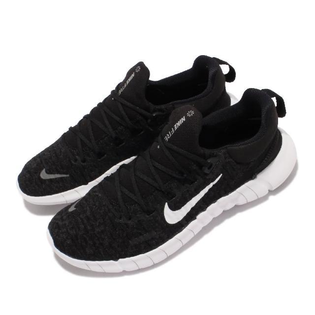【NIKE 耐吉】Free RN 5.0 Next Nature 女鞋 慢跑鞋 輕量 襪套 貼合包覆 避震泡棉 黑 白(CZ1891-001)