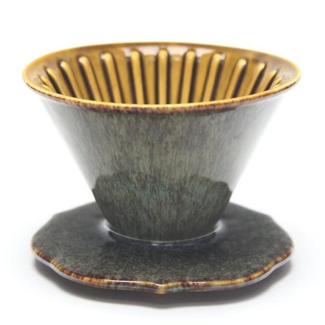 【MILA】手作燒陶自然釉咖啡濾杯02-天目森林(台灣製造)