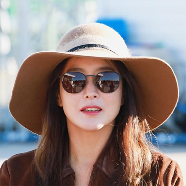 【VIVANT】強勢來襲 金喜善同款代言-微圓框太陽眼鏡(黑 - MIRAGE - BLACK)