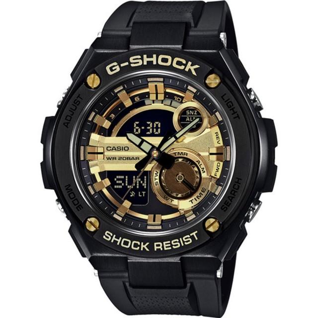 【CASIO 卡西歐】G-SHOCK系列 破繭重生雙顯運動錶(GST-210B-1A9DR)