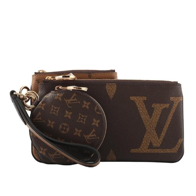 【Louis Vuitton 路易威登】Monogram 雙色三合一可拆手拿包(M68756)