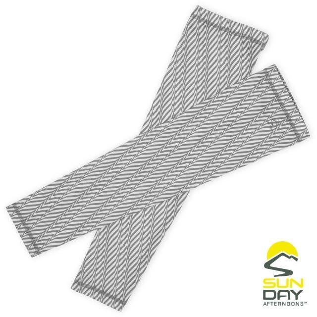 【BUFF】抗UV透氣涼感袖套 手腕 灰色幾何折線 UVShield Cool Sleeves(SAS2A64649B-352/防曬/遮陽)