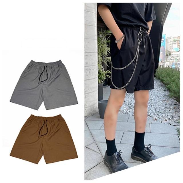 【Dition】韓系oversize寬鬆西裝短褲 居家短褲 情侶裝 男女可穿 西裝剪裁哈倫褲(值得爆買一波的西裝短褲)
