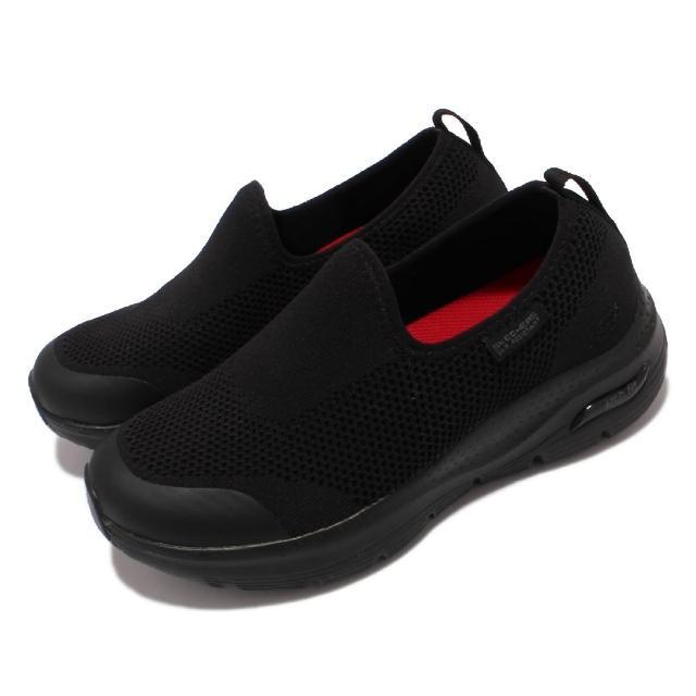 【SKECHERS】休閒鞋 Arch Fit SR-Absidy 女鞋 耐油 防滑 專利緩震鞋墊 支撐 舒適 黑(108022-BLK)