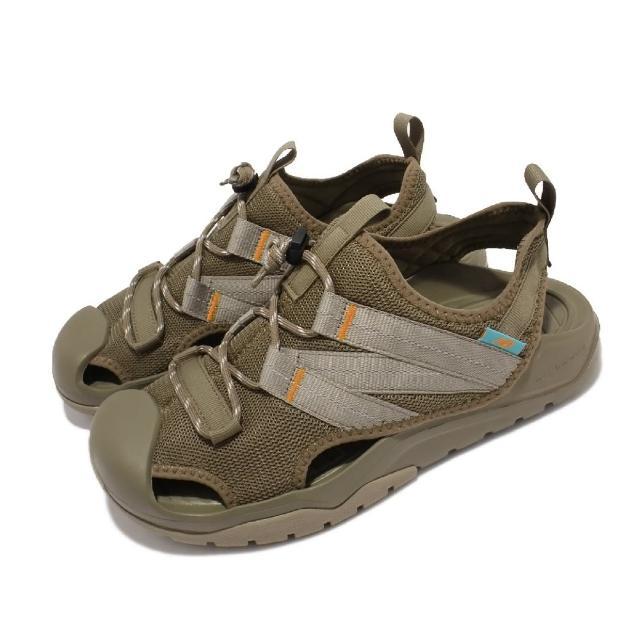 【NEW BALANCE】涼鞋 4205 韓版 包頭 休閒 反光 男女鞋 紐巴倫 彈性繩鞋扣 耐磨大底 情侶鞋 綠(SD4205KAM)
