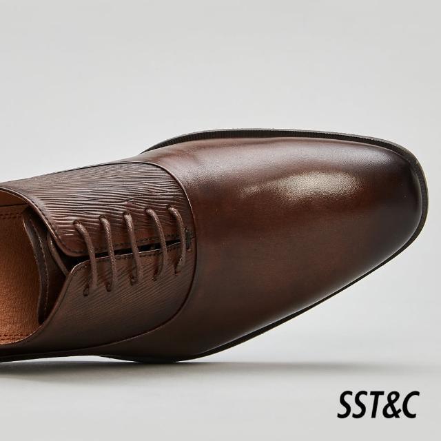 【SST&C】深咖啡色壓紋牛津鞋1312105002