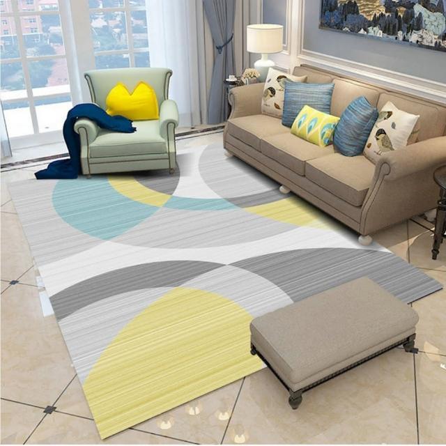現代藝術水晶絨印花地毯 NO.38(140*200CM)